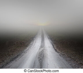 köd, út, piszok