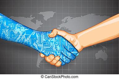 kölcsönhatás, technológia, emberi