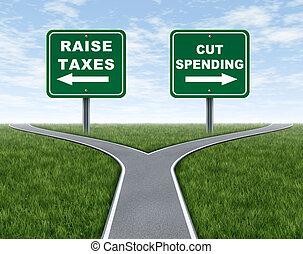 költés, éles, emelés, adók, vagy