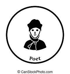költő, ikon