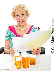 költség, törődik, recept, orvosi, magas, drogok
