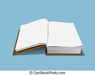 könyv, üres, ábra