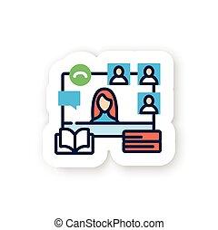 könyv, böllér, online, klub, szín