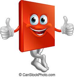 könyv, betű, ábra, piros