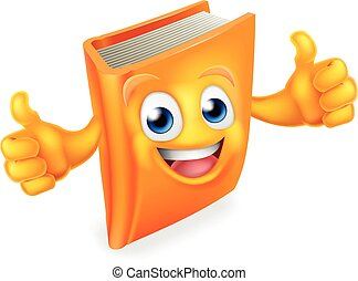 könyv, betű, karikatúra