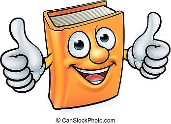 könyv, betű, karikatúra, kabala
