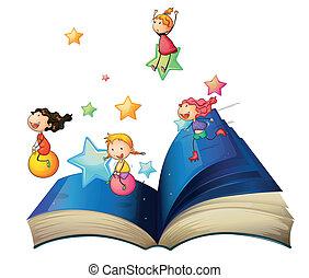 könyv, gyermekek játék