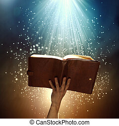 könyv, kéz