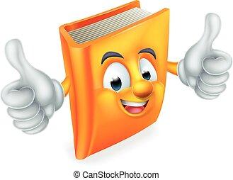 könyv, karikatúra, kabala