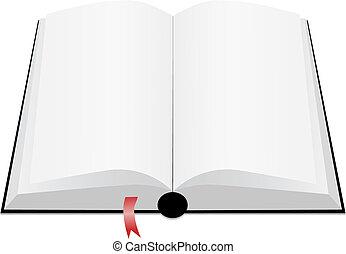 könyv, nyílik