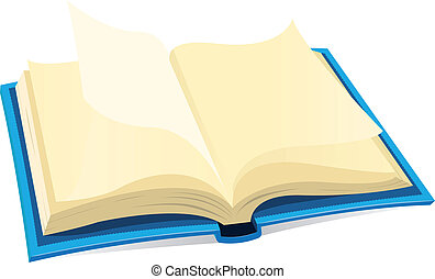 könyv, nyílik, ikon