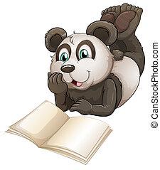 könyv, panda, üres