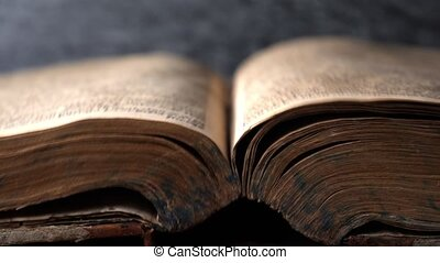 könyv, titokzatos, sztori, book., opening.