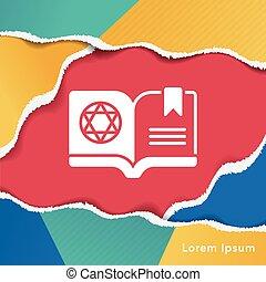 könyv, varázslatos, ikon