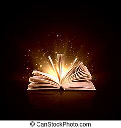 könyv, varázslatos