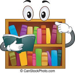 könyvespolc, kabala