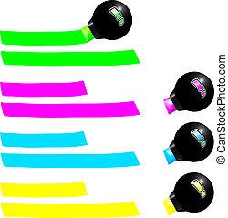 könyvjelző, fluoreszkáló