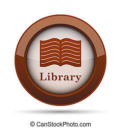 könyvtár, ikon