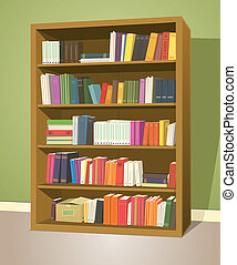 könyvtár, könyvespolc