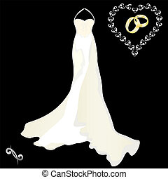 köpeny, blac, ruha, esküvő