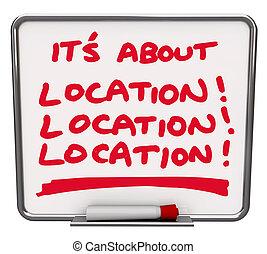 körülbelül, terület, rendeltetési hely, folt, minden, állás, elhelyezés, -e, legjobb