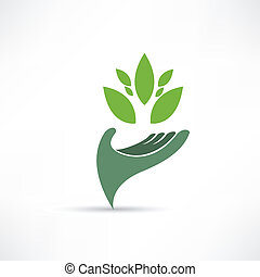 környezet, ökológiai, ikon