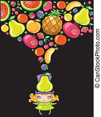 körte, leány, (fruity, series)