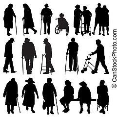 körvonal, öregedő