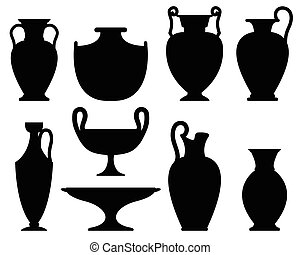 körvonal, ősi, váza
