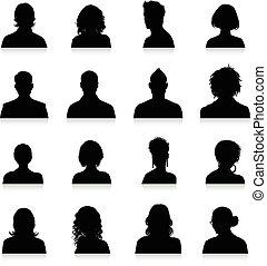 körvonal, avatars