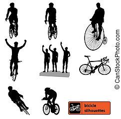 körvonal, bicikli, gyűjtés