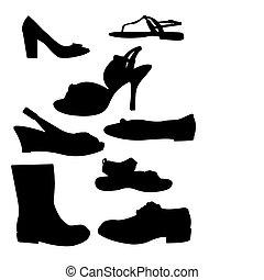 körvonal, cipő