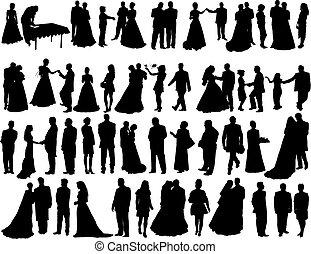 körvonal, esküvő