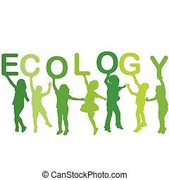 körvonal, fogalom, ökológia, gyerekek