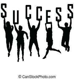 körvonal, fogalom, fiatal, siker, befog
