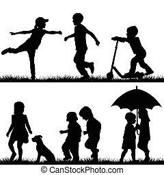 körvonal, gyermekek játék