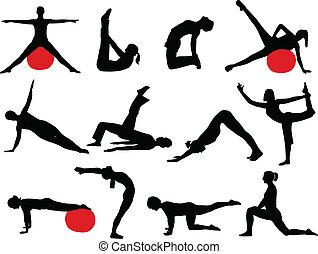körvonal, pilates