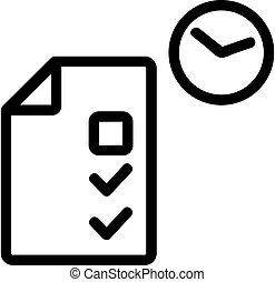 körvonal, tudás, vector., ábra, jelkép, vizsgálat, teszt, elszigetelt, ikon