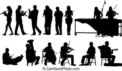 körvonal, zeneértők