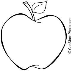 körvonalazott, alma