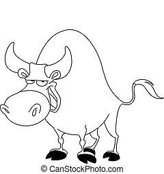 körvonalazott, bika