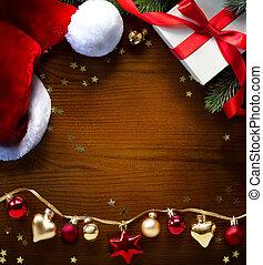 köszönés, karácsony, háttér, kártya, transzparens, vagy, ünnepek, művészet