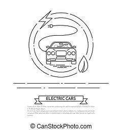 kötél, bedugaszol, művészet, elektromos, gépi erejű, autó, modern, egyenes