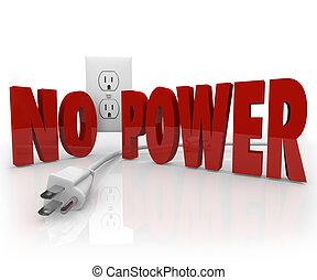 kötél, erő, no villanyáram, outage, electrical kivezetés, szavak