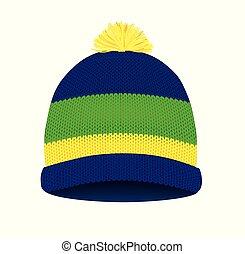 kötött, tél kalap