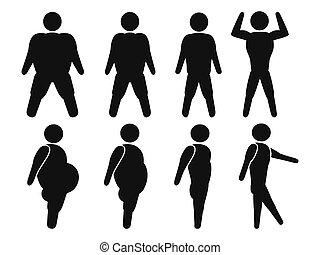 kövér, egészséges, ember