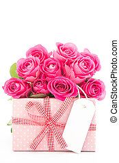 következő, tiszta, becsuk, háttér, gyönyörű, kártya, tehetség, agancsrózsák, fehér, feláll, csokor, rózsaszínű