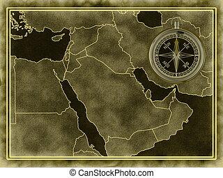 középkelet, térkép