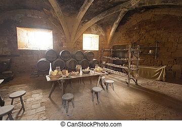 középkori, konyha