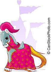 középkori, ló